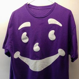 Kool Aid Face Purple T Shirt Size XL